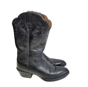 Ariat Black Leather Cowgirl Boots